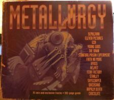 METALLURGY: FEAR FACTORY-NAPALM DEATH-FAITH NO MORE-SEPULTURA....(CD + BOOK)