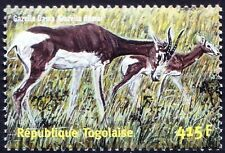 Gazella Dama, addra gazelle, or mhorr gazelle, Wild Animals, Togo 2001 MNH -E83