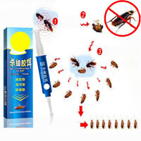 Home Powerful Anti Cockroach Pesticide Control Gel Bait Drug Poison Nest Syring.