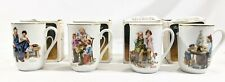 Norman Rockwell Museum Porcelain Collector Mugs 1982 Complete Set