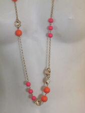 Banana Republic Mad Men Crystal bauble necklace  NWOT 39.5 orange pink LOT OF 10