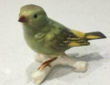 Vintage Goebel Green Finch Bird Figurine 38026