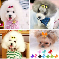 10PCS Pet Dog Cat Hair Bows Sunglasses Hair Clips Doggie Grooming Accessories