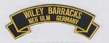 "Wiley Barracks, Neu Ulm Germany 4"" embroidered rocker tab patch"