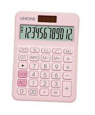 Calculator With A Bright Lcd Dual Power Handheld Desktop Business Pink