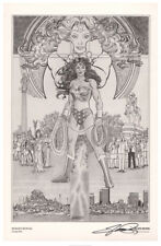 History of the DC Universe SIGNED George Perez Comic Art Print ~ Wonder Woman