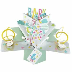 Second Nature Pop Ups Greeting Pop Up Card - Baby shower