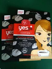 Lot of 2 Yes to Tomatoes Clear Skin Detoxifying Charcoal Powder to Clay Mud Mask