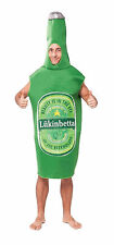 Unisex Green Beer Lager Bottle Fancy Dress Costume Mens Stag Do Outfit