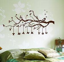 Wall Decal Tree Branch Thank You Vinyl Sticker (z3635)