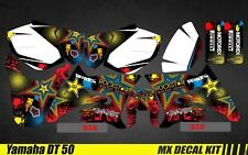 Kit Déco Moto / Mx Decal Kit Yamaha DT50 - Rockstar H&H