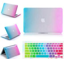"""Hard Rubberized Case + KB Cover Shell for Macbook Air Pro Retina 11"""" 12"""" 13"""" 15"""""""