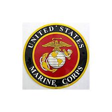 "Marines United States Marine Corps 12"" Embossed Circle Round Sign Made in USA"