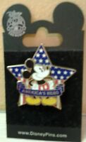 2008 Authentic Disney Mickey Mouse America's Hero Trading Pin New on Card