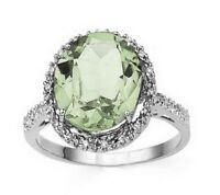 Bague or, améthyste verte et diamants