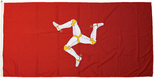 Isle of Man traditionally sewn flag national IOM MoD approved woven stitched
