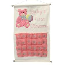 Baby's First Christmas Scroll Advent Calendar - Add your own Treats - Pink