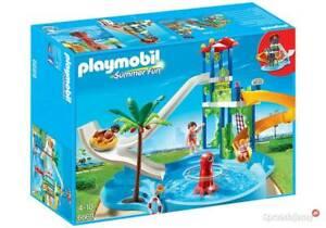 Playmobil Summer Fun Parc aquatique avec toboggans géants 6669 piscine