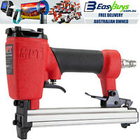 MPT Pro Quality Air Staple Gun Finishing Stapler Tacker Pneumatic Tool with Tail