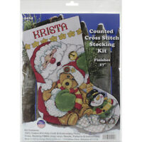 "Design Works Counted Cross Stitch Kit 17"" Long-Santa Stocking (14 Count), DW5414"