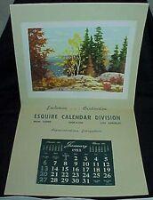 1952 Esquire Calendar Division Salesman Sample Calendar Picnic Point Blackwood
