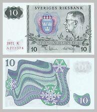Schweden / Sweden 10 Kronor 1971-1975 p52c unc