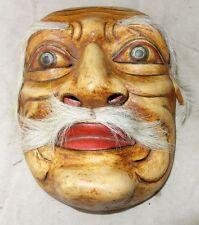 schöne Holz Maske Holzmaske echt geschnitzt