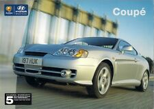 Hyundai Coupe 2002-04 UK Market Sales Brochure 2.7 V6 2.0 SE 1.6 S