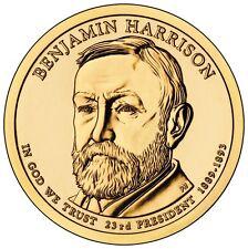2012 Benjamin Harrison Golden Dollar P&D BU set