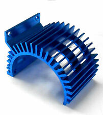 540 550 RC EP Motor Alloy Vented Heatsink Navy Blue Side