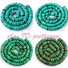 """Natural Button Turquoise Gemstone For Jewelry Making Spacer Beads 15"""",Pick Size"""