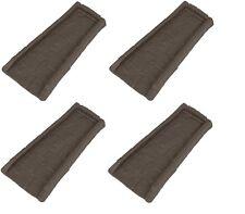(4) ea Suncast SBR24 Brown Decorative Gutter Downspout Splash Blocks