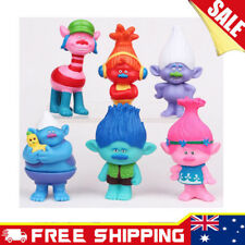 6pcs Trolls Cake topper figurines Action Figures Boy Girl KidsToy Set