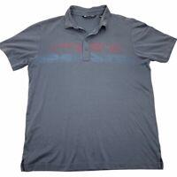 Travis Mathew Mens Golf Polo Shirt Gray Short Sleeve Cotton Blend Top L