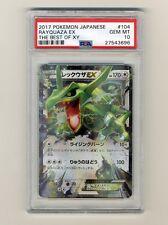 Pokemon PSA 10 GEM MINT Rayquaza EX Best Of XY BOXY Japanese Card 104/171