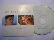MARC LAVOINE + CLAIRE KEIM Je Ne Veux Qu'Elle – 2002 French CD Card Sleeve
