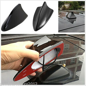 Black ABS Car Vehicles Roof Special Radio FM Shark Fin Antenna Aerial Signal Kit