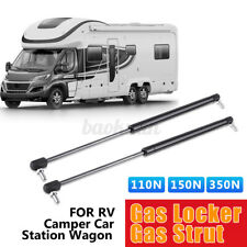 1pc Campervan Caravan Gas Locker Spring Strut 110N Telescopic Support Arm