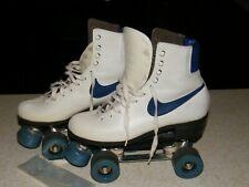Vtg Womens 70's/80's Nike Sunlite (3) Blue Swoosh Roller Skates & Skate Key