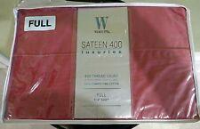 WAMSUTTA Sateen 100% Pima Cotton Full Flat Sheet 400 Thread Count Red NEW