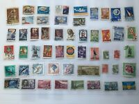 Old stamps from Russia late 50s period 1950 - 1960 #1-2