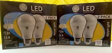4 BULBS GE LED 11w = 60watt  Soft White standard a19 e26 light bulb dimmable