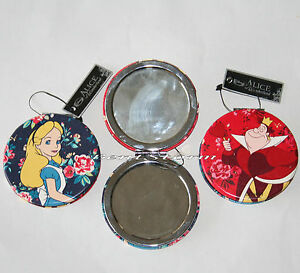 Disney Alice in Wonderland Red Queen of Hearts Make-up 2 Sided Compact MIRROR