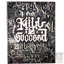 Kill 2 Succeed Tattoo Lettering Flash Book by Big Sleeps