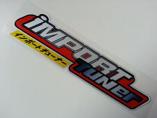 iMPORT TUNER JDM Modified Car bumper Decal Reflective Sticker