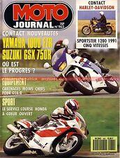 MOTO JOURNAL  962 HARLEY DAVIDSON XLH 1200 Sporster SUZUKI GSX-R 750 YAMAHA FZR