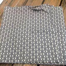 IKEA Black Gray Mid Century Modern Shower Curtain Circle Geometric Bathroom NEW