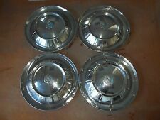"1954 54 Plymouth Hubcap Rim Wheel Cover Hub Cap 15"" OEM USED SET 4"