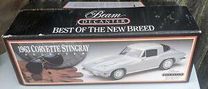 Jim Beam 1963  Silver Corvette Stingray Whiskey Decanter Empty
