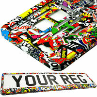 STICKERS TUNING Car Number Plate Surround Holder FOR ANY CAR, TRUCK VAN TRAILER